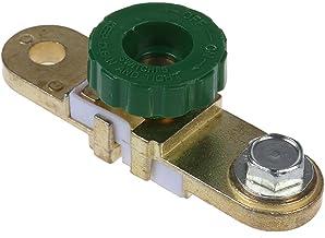 Amarillo y verde 17mm Coche Moto Bater/ía Terminal Enlace Interruptor de corte r/ápido Desconector giratorio Aislador Cami/ón Coche Autopartes de veh/ículos