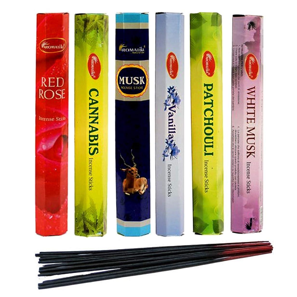 極めて重要なフラッシュのように素早くオフセットaromatika Incense Sticks Best Sellers Hexa Flora 6ボックスX 20スティック、コンボパック、合計120?Sticks (120?Sticks)