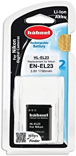 Hahnel HL EL23 For Nikon Digital Cameras Replacement for EN-EL23 1790mAh, 3.8V, 6.8Wh - Black