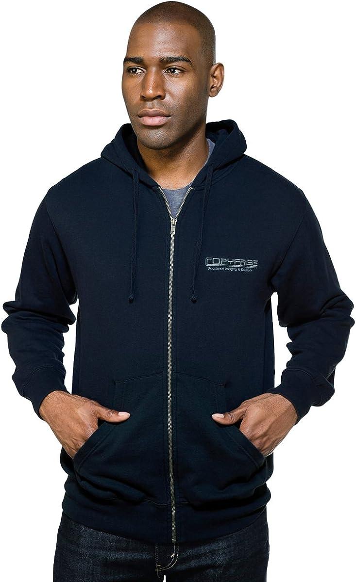 Tri-Mountain Men's Chance 60/40 kangaroo pocket Hooded Knit Full Zip Sweatshirt