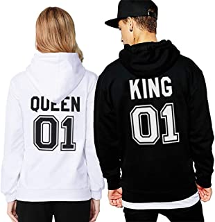 Sudadera Pareja King Queen Hoodiehttps://amzn.to/2ZRpfaP