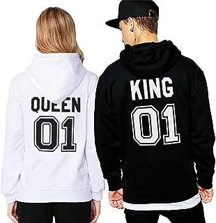 Sudadera Pareja King Queen Hoodiehttps://amzn.to/2LhERSZ