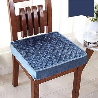 Z IMEI Espuma Cuadradas Antideslizantes Cojines para Sillagrueso Desmontable Cojín De Asiento Coche Cojines Acogedor Oficina Hogar (sin Silla)-Azul 40x40cm(16x16in)