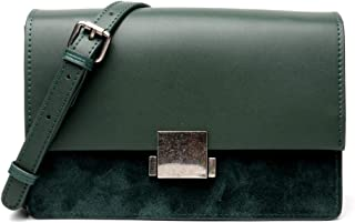 Portable New Trend Casual Fashion Bills Shoulder Slung Small Leather Handbag (Color : Green)