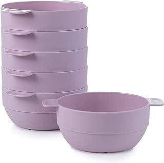 Amuse- Unbreakable & Stackable Bowls < Dessert, Cereal or Ice Cream > - 6 pcs- 16.9 oz (Purple)