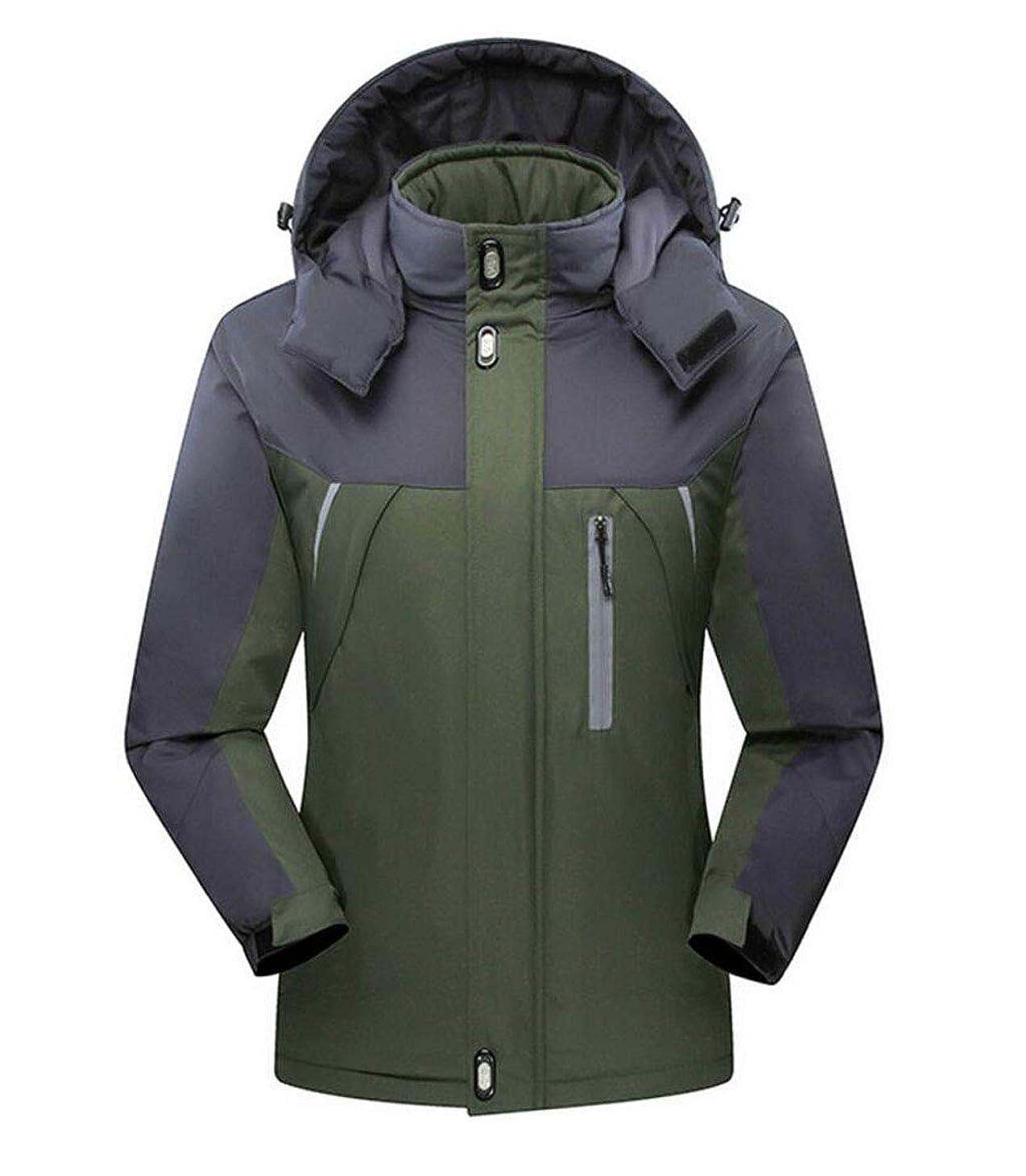 DAFREW Men's Jackets, Waterproof and Windproof Ski Jacket Outdoor Mountaineering Suit Autumn and Winter Plus Velvet Warmth