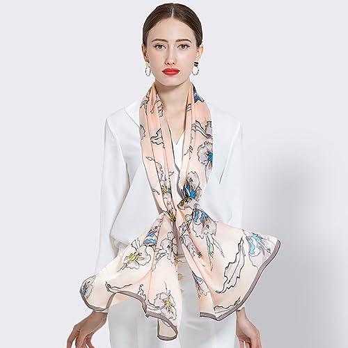 Hongseweijin Echarpes, écharpes en Soie, écharpe Femmes, écharpes en Soie de Mûrier, écharpes Sauvages de l'été Nouveau, écharpe de Prougeection Solaire