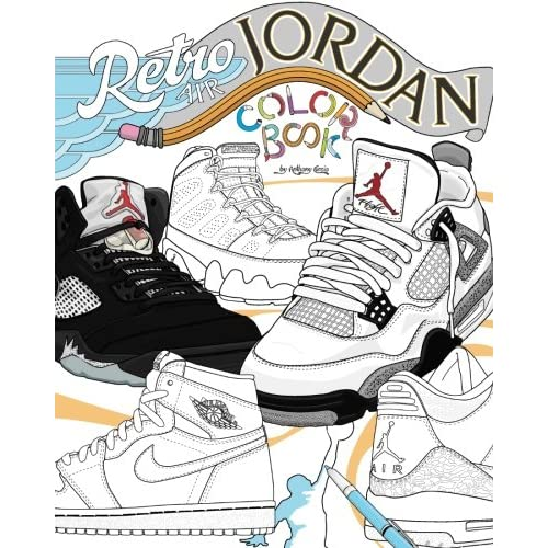new products 4976f a85d2 Retro Air Jordan Shoes  A Detailed Coloring Book for Adults and Kids   Volume 1