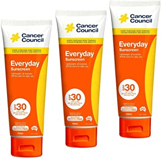 3x Cancer Council Everyday Sunscreen SPF 30 Tube 110mL