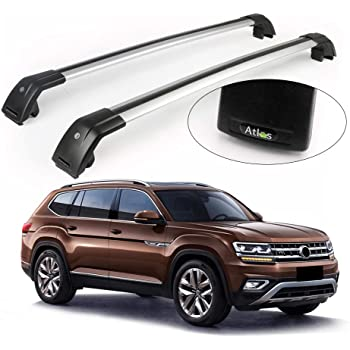 Amazon Com Kpgdg For Fit Vw Volkswagen Atlas 2018 2020 Lockable Cross Bar Roof Racks Baggage Luggage Racks Silver Automotive