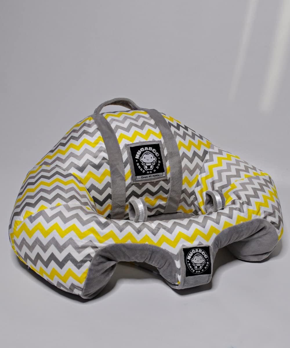 Hugaboo The Original Infant Sitting Chair, Yellow Chevron/2nd Edition