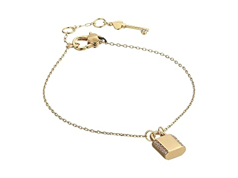 Kate Spade New York Lock and Spade Pave Lock Solitaire Bracelet