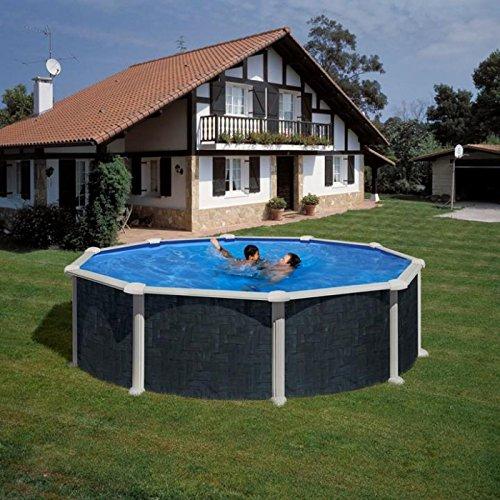 Gre KIT460NRT - runder Pool, Rattan Dekor, Maße: Ø 460cm, Höhe: 120 cm