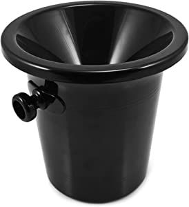 True Wine Tasting Dump Bucket Spittoon (64oz) for Wine, Whiskey, Cocktails, Tobacco, Alcohol Spit Cup | 2-Piece Design with Removable Lid
