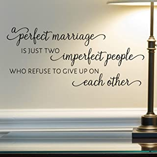 A Perfect Marriage Wall Decal, Married Quote Wall Décor, 24