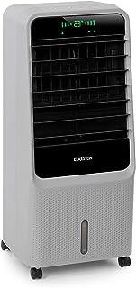 KLARSTEIN Townhouse - Enfriador de Aire, 3 en 1, Ventilador, Humidificador de Aire, 110 W, 396 m³/h, 4 Modos: Normal, Naturaleza, Noche e Inteligente, Programable 8 h, Déposito de 7 litros, Gris