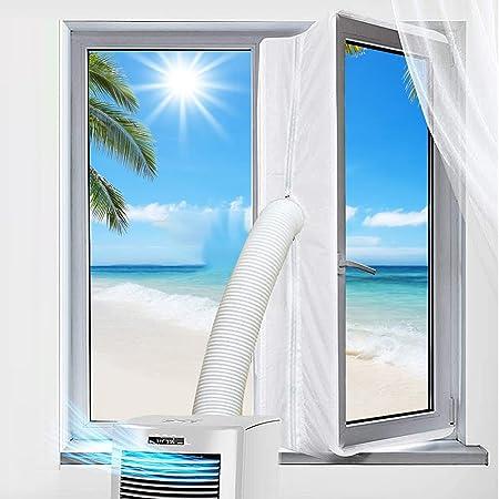 Gohytal 300CM Guarnizione Universale per Condizionatore Portatile, Sigillo Finestra Asciugatrice Per Tutti Climatizzatori Mobili, Blocca Aria Calda, Facile da Installare, Senza Fare Buchi