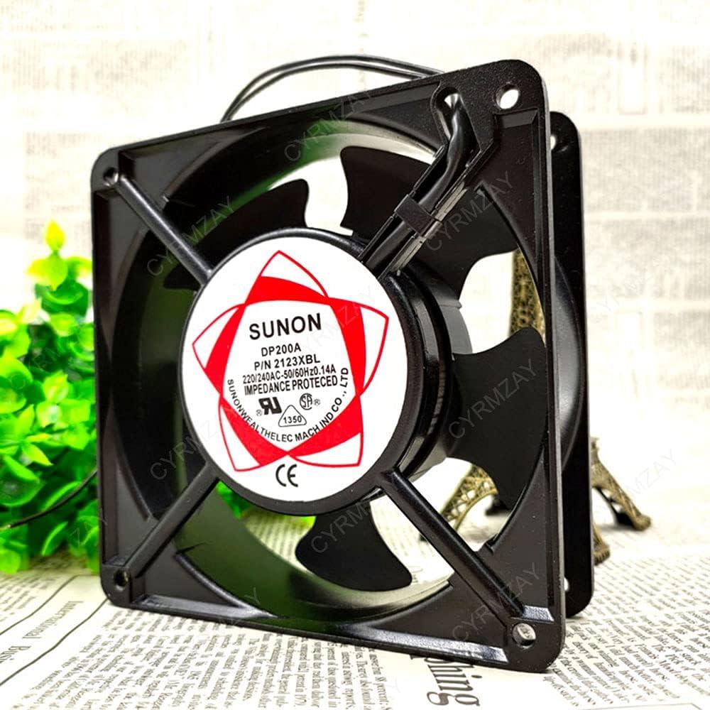 CYRMZAY Ventilador Compatible para SUNON DP200A P/N 2123XBL 220 / 240V 0.14A 12038 2-Wire Ball Cooling Ventilador