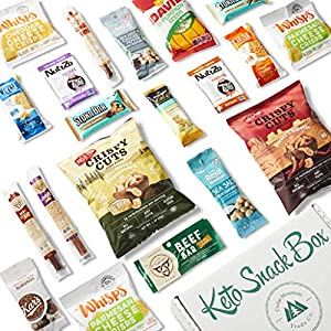Keto Snack Box (20 Count) - Ultra Low Carb Snacks, Ketogenic Friendly, Gluten Free, Low Sugar - Healthy Keto Gift Box Variety Pack - Protein Bars, Pork Rinds, Cheese Crisps, Nuts, Jerky #3