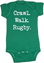 We Match! Unisex Baby - Crawl Walk Rugby Baby Bodysuit (16 Colors Available)
