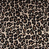 SCHÖNER LEBEN. Sweatstoff Steppstoff Steppsweat Leopard