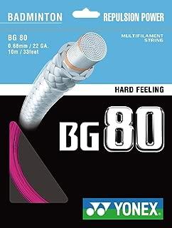 YONEX BG 80 Badminton String (Neon Pink)