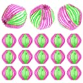 Washing Ball - WENTS 18 Pack Reusable Dryer Balls Washer Dryer Ball Magic Hair Removal Washing Balls Hair Lint Grabbing Wash Ball