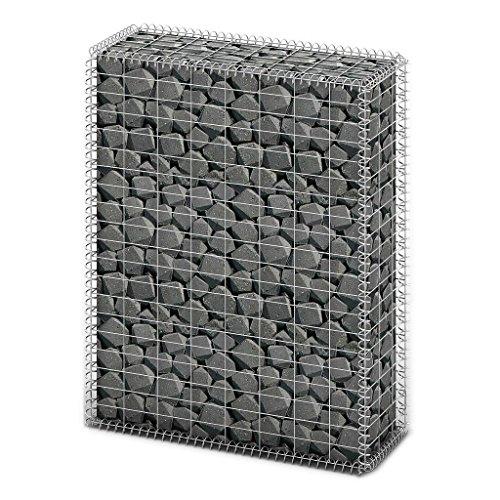WEILANDEAL Corbeille à pierres - 100 x 80 x 30 cm - En acier galvanisé de qualité supérieure.