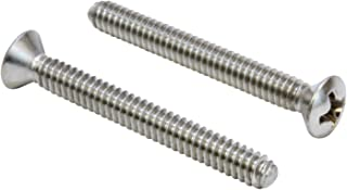 #8-32 X 1-3/4'' Stainless Phillips Oval Head Machine Screw, (50 pc), 18-8 (304) Stainless Steel, by Bolt Dropper