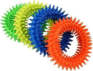 Spiky Sensory Ring Fidget Toys(4パック)、ストレス解消おもちゃ、感覚玩具、ADHD ADD OCD自閉症、うつ病および不安障害の治療に役立ちました。 BPA/ラテックス/フタル酸エステルフリー