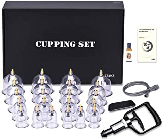 Cupping Therapy Sets, DEFUNX Vacuum Suction 22 Cups Sets for Cellulite Cupping Massage, Cupping Therapy Pump