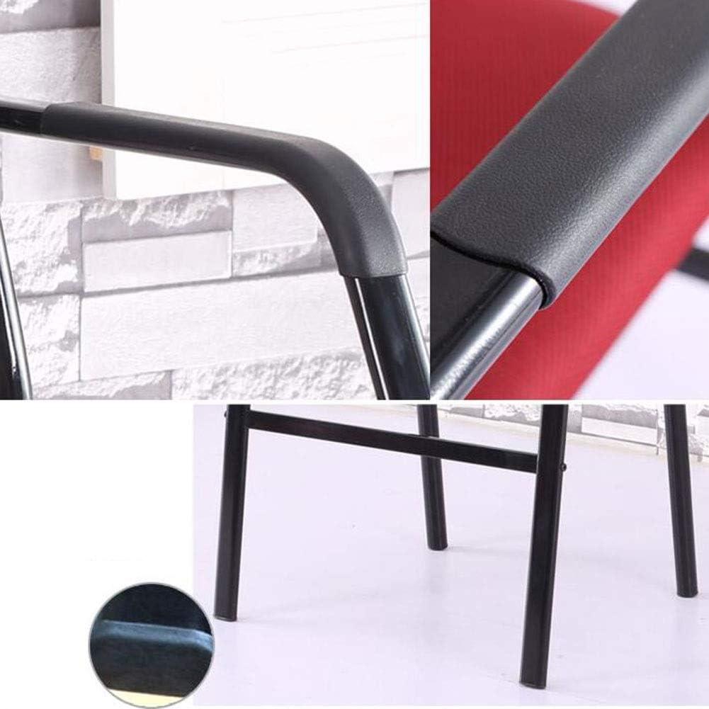 GLJJQMY Chaise de Bureau Chaise de Bureau Moderne Minimaliste conférence Chaise Mise en Page Table d'ordinateur et Chaise Ensemble de 2 Chaise empilable (Color : Red2) Red2