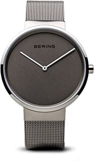 BERING Time 14539-077 Classic Collection Watch with Mesh Band and Scratch Resistant Sapphire Crystal. Designed in Denmark.