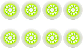 Z-FIRST 8 Pack 90mm Inline Roller Skate Wheels 85A Premium Replacement for Rollerblade Wheels