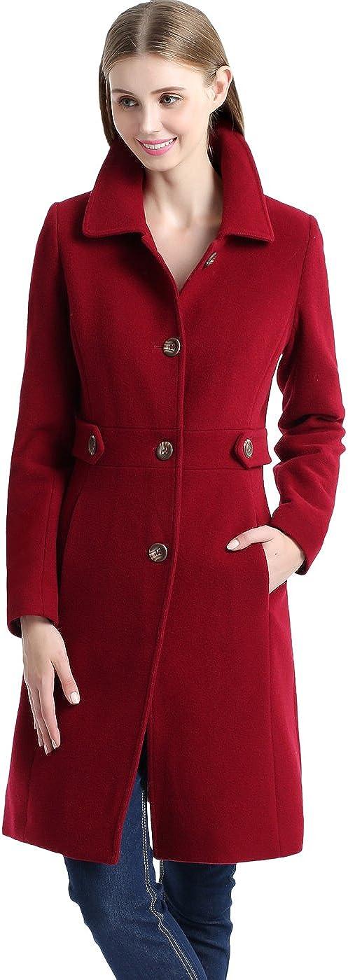 BGSD Women's Reservation At the price Heather Wool Blend Regular Coat Size Plus Walking