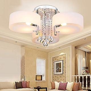 Lámpara de techo de cristal acrílico diseño creativo araña circular dormitorio sala de estar accesorio de iluminación moderno