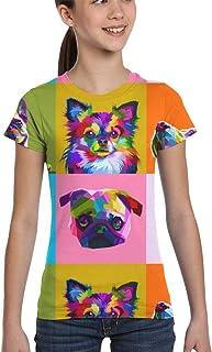 Girl T-Shirt Tee Youth Fashion Tops Creative Hand Drawn Tiger