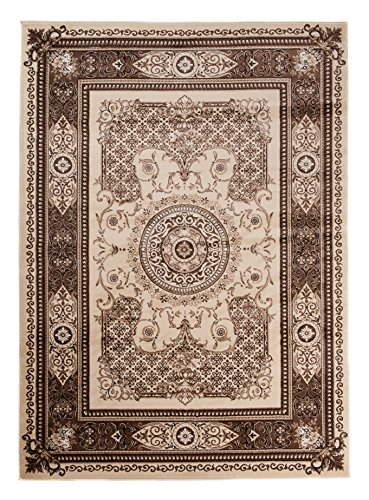 Carpeto Rugs Tapis Salon Beige 140 x 190 cm Oriental/Nantes Collection