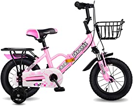 Axdwfd Kids Bike Foldable Children's Bicycles, Sizes 12 Inches, 14 Inches, 16 Inches, 18 Inches, 3 Colors, with Stabilizers, Mudguards and Brackets Bicycle