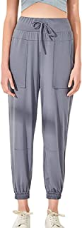 Womens Yoga Pants Capri Wide Leg Comfy Drawstring for Sport Exercise Travel Quick-Dry Stretchy