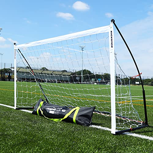 QUICKPLAY Kickster Elite Portable Soccer Goal with Integrated Weighted Base for Indoor & Outdoor Soccer [Single Goal] (3) 6.5 x 3'