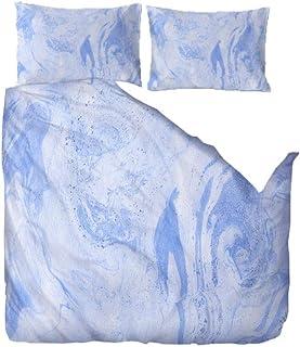 QHDXL Housse de Couette 220x240 Taches Bleues Parure de Lit 2 Place Adulte Parure de Couette et 2 x Taies Oreiller 50 x75c...