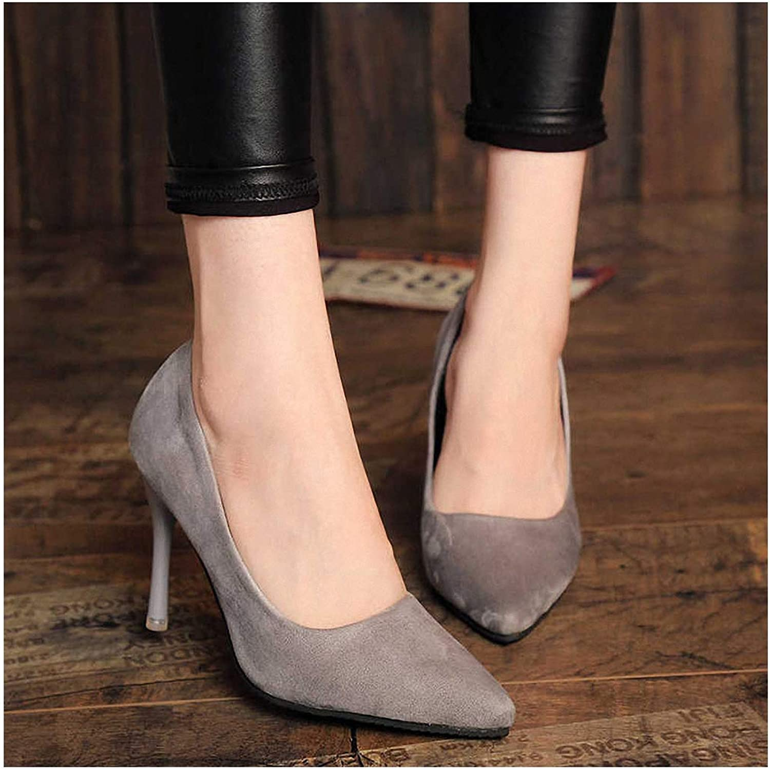 Tebapi Womens High-Heeled Pumps shoes High Heels Women Pumps Thin Heel Classic White Red Nede Beige Sexy Prom Wedding shoes bluee Red Wine