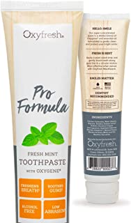 Oxyfresh Pro Formula Toothpaste – Gentle Cosmetic Formula. Great for Sensitive Teeth and Gums and Families who use Whitening Products. Fresh Mint Flavor with Natural Essential Oils. 5.5 oz.