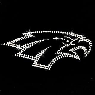 Eagle Sport Head Iron On Rhinestone Crystal T-Shirt Transfer by JCS Rhinestones