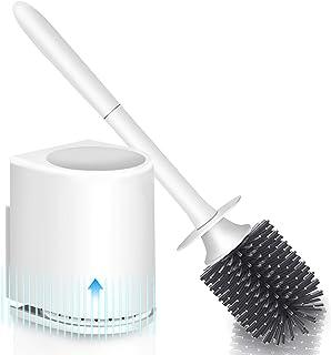 Juego de 3 cabezales de repuesto con adaptador universal WATERCLOU cepillo de inodoro innovador sin cerdas de silicona blanco Sanwood