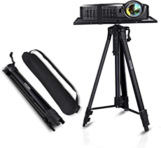 """Projector Stand,Laptop Stand,Aluminum Multifunction Tripod Stand with Tray Adjustable Tripod Laptop Projector Stand, 17"""" t..."""