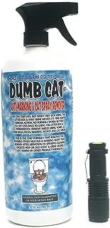 Dumb Cat Urine Digester Odor Remover with UV Blacklight Pet Urine Detector Light Bundle