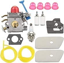 Wellsking 128CD Carburetor for Husqvarna Zama C1Q-W40A Carb Kit 545081848 128LD 128C 128L 128LDX 128R 128RJ 124L 125L Craftsman String Trimmers Brushcutter with Air Filter