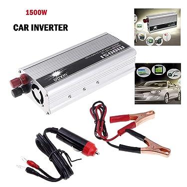 Eaglerich Portable Car Charger 1500W WATT DC 12V to AC 110V 60 Hz Car Power Inverter Converter Transformer Power Supply